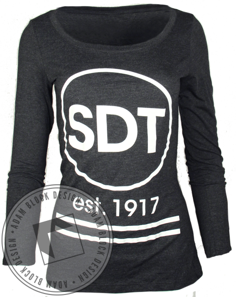 Sigma Delta Tau Bid Day Black Long Sleeve-Adam Block Design