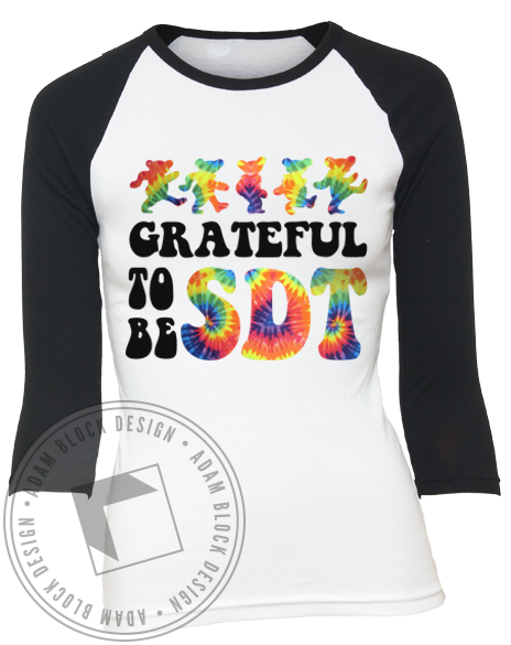 Sigma Delta Tau Bid Day Grateful Tee-Adam Block Design