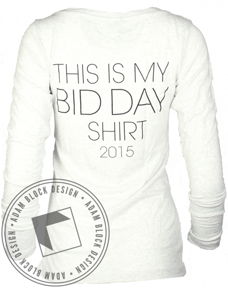Sigma Delta Tau Bid Day Long Sleeve-Adam Block Design