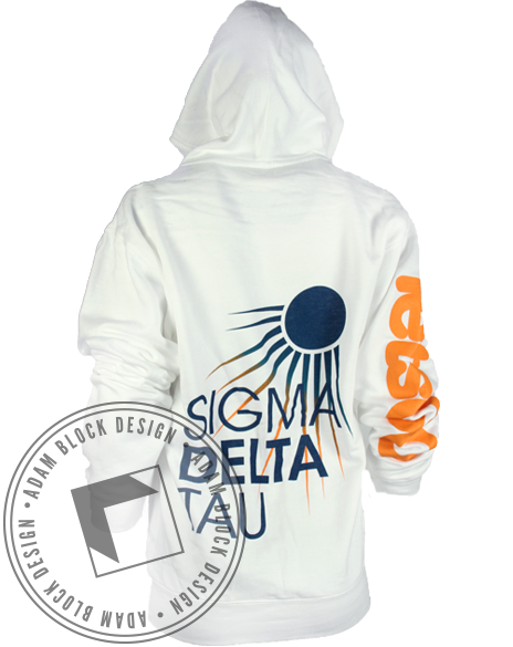 Sigma Delta Tau Bird Long Sleeve hoody-gallery-Adam Block Design