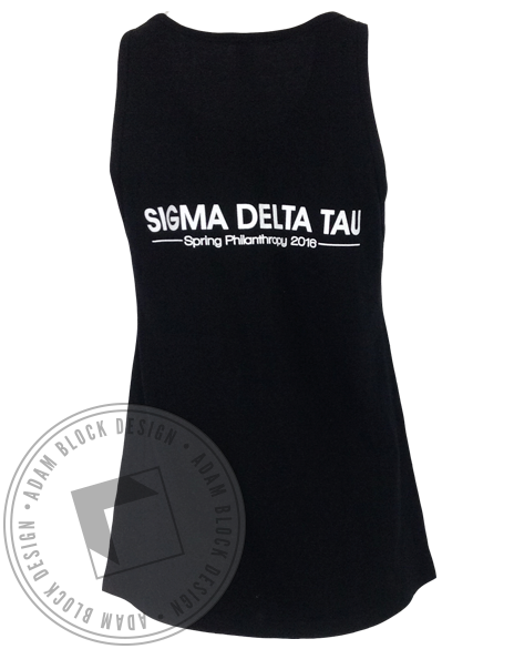 Sigma Delta Tau Campus Feud Tank Top-Adam Block Design
