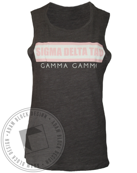 Sigma Delta Tau Chapter Tank Top-Adam Block Design