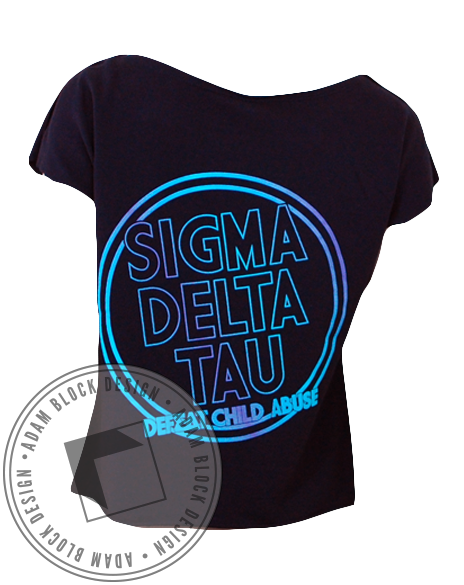 Sigma Delta Tau Child Quest Tee-Adam Block Design