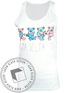 Sigma Delta Tau Dancing Bears Tank-Adam Block Design