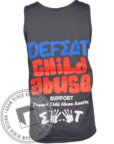 Sigma Delta Tau Defeat Child Abuse Tank Top-Adam Block Design