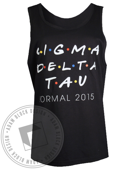 Sigma Delta Tau Formal Tank Top-Adam Block Design