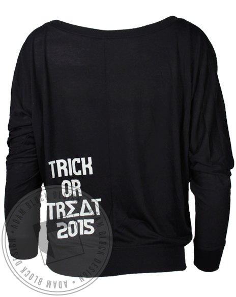Sigma Delta Tau Halloween Skeleton Long Sleeve Shirt-Adam Block Design