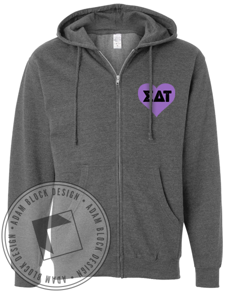 Sigma Delta Tau Hamsa Zip Up-Adam Block Design