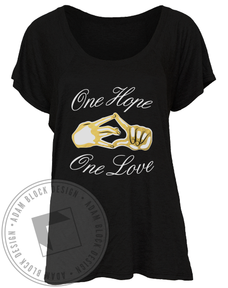 Sigma Delta Tau Hands Tee-Adam Block Design