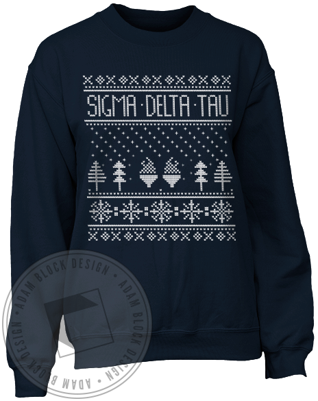 Sigma Delta Tau Holiday Sweatshirt-Adam Block Design