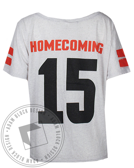 Sigma Delta Tau Homecoming Jersey Tee Shirt-Adam Block Design
