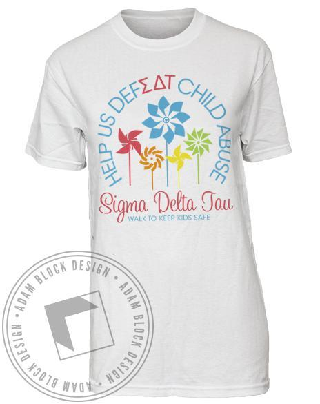 Sigma Delta Tau Keep Kids Safe Tee-Adam Block Design