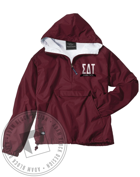 Sigma Delta Tau Letters Windbreaker Jacket-Adam Block Design