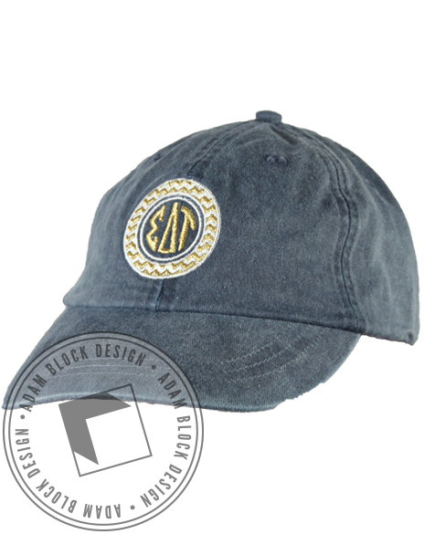 Sigma Delta Tau Monogram Hat-gallery-Adam Block Design