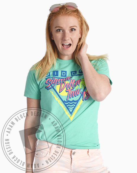 Sigma Delta Tau Neon Bid Day Tshirt-gallery-Adam Block Design