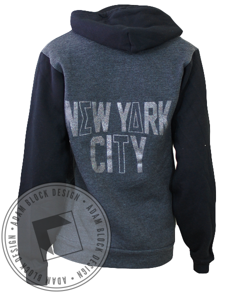 Sigma Delta Tau New York Long Sleeve Hoody-gallery-Adam Block Design