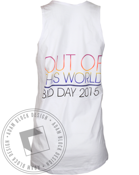 Sigma Delta Tau Out of this World Bid Day Tank Top-Adam Block Design
