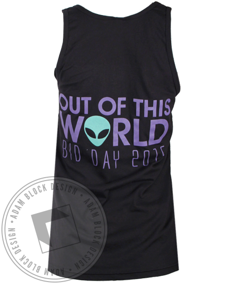 Sigma Delta Tau Out of This World Tank Top-Adam Block Design
