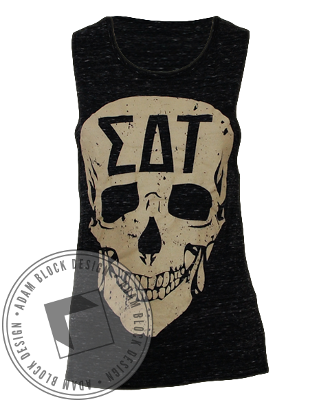 Sigma Delta Tau Trick Or Treat Tank-Adam Block Design