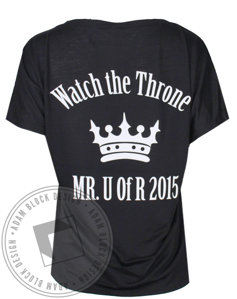 Sigma Delta Tau Watch the Throne Tshirt-Adam Block Design