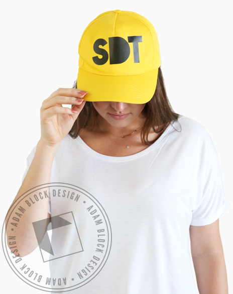Sigma Delta Tau Yellow SDT Hat-gallery-Adam Block Design
