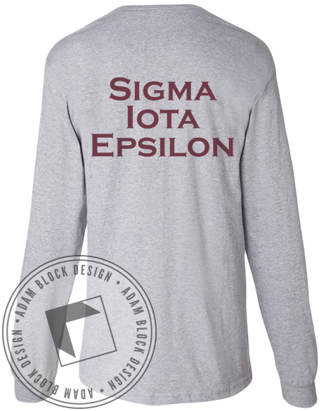 Sigma Iota Epsilon Key Pocket Long Sleeve-Adam Block Design