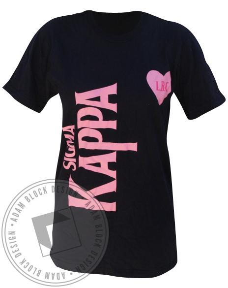Sigma Kappa Beatles V-Neck-Adam Block Design