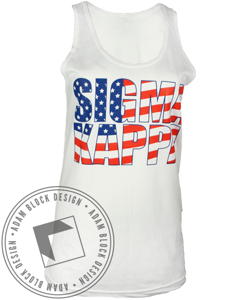 Sigma Kappa Best Sorority Tank-gallery-Adam Block Design