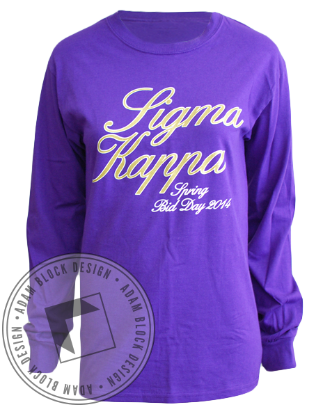 Sigma Kappa Best Thing Long Sleeve-Adam Block Design