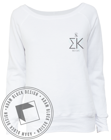 Sigma Kappa Bid Day Crewneck-Adam Block Design