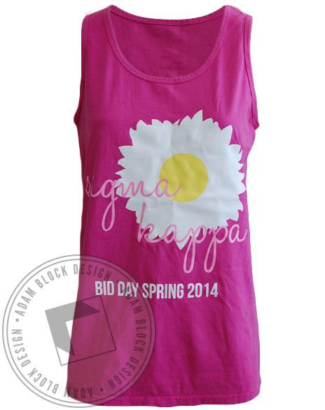 Sigma Kappa Bid Day Flower Tank-Adam Block Design