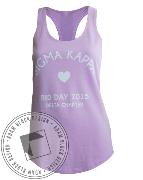 Sigma Kappa Bid Day Tank-Adam Block Design