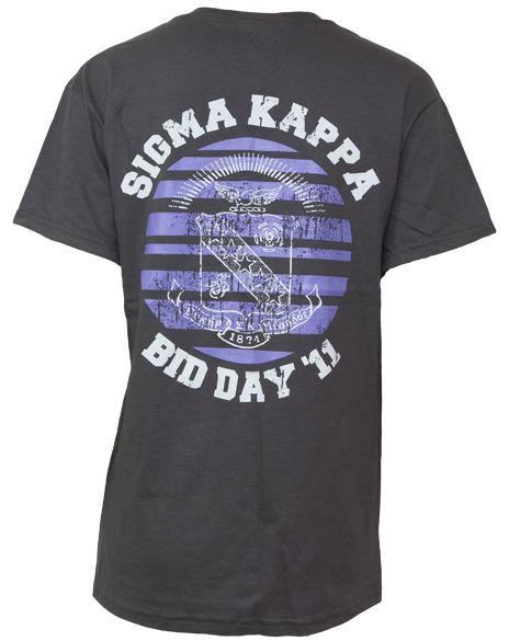 Sigma Kappa Bid Day Tee-Adam Block Design