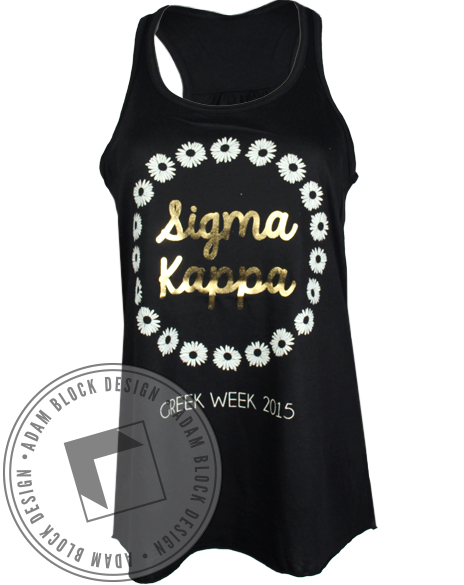 Sigma Kappa Daisy Wreath Tank-gallery-Adam Block Design