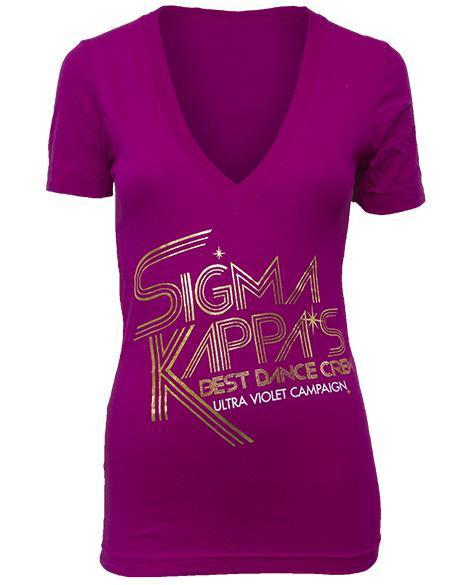 Sigma Kappa Dance Crew V-neck-gallery-Adam Block Design