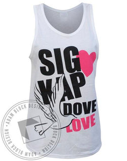 Sigma Kappa Dove Love SK Tank-Adam Block Design