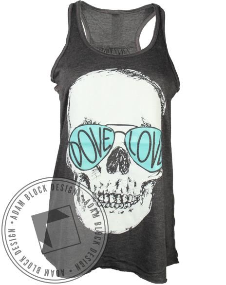 Sigma Kappa Dove Love Skull Tank-Adam Block Design