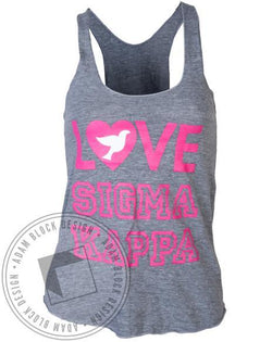 Sigma Kappa Dove Love Tank-Adam Block Design