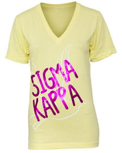 Sigma Kappa Dove V-neck-Adam Block Design
