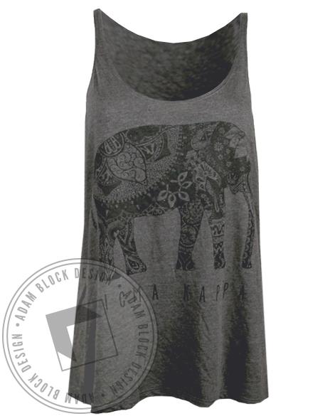 Sigma Kappa Elephant Tank Top-gallery-Adam Block Design