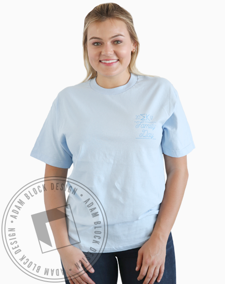 Sigma Kappa Family Day T-shirt-Adam Block Design