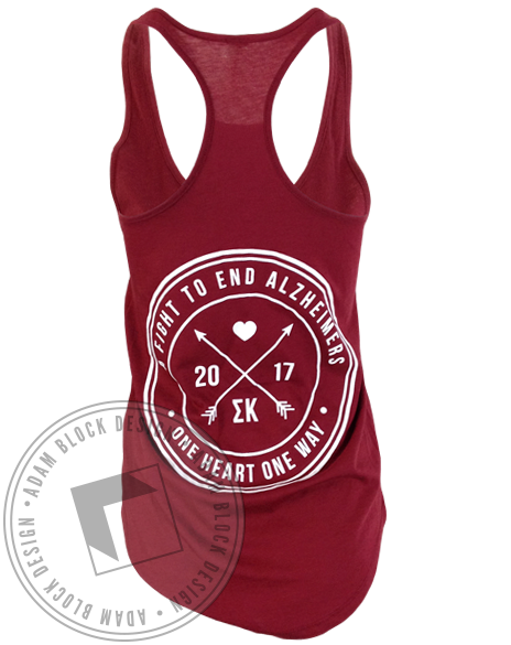 Sigma Kappa Fight To End Alzheimers Racerback Tank-gallery-Adam Block Design