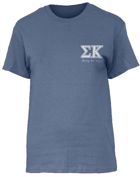 Sigma Kappa Horseshoe Tee-Adam Block Design