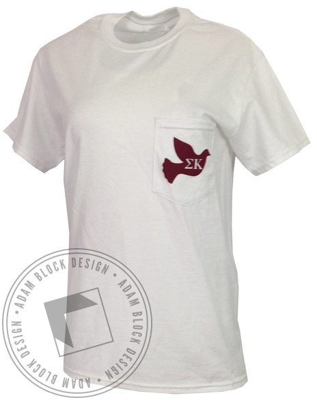 Sigma Kappa Indiana Pocket Tee-Adam Block Design