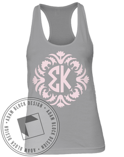 Sigma Kappa Monogram Tank-Adam Block Design
