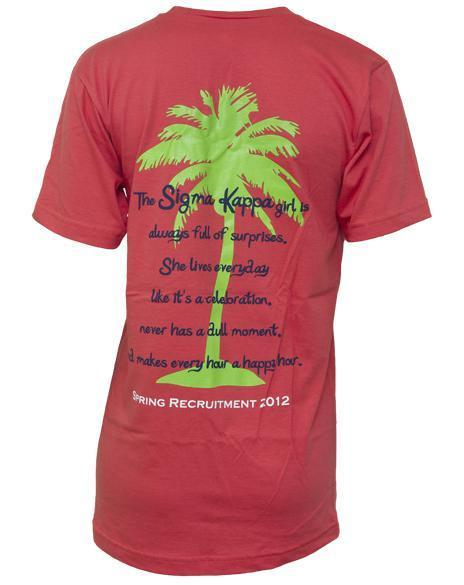 Sigma Kappa Palm Tree V-Neck-gallery-Adam Block Design