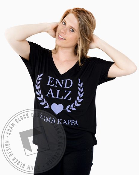 Sigma Kappa Philanthropy V-neck-Adam Block Design