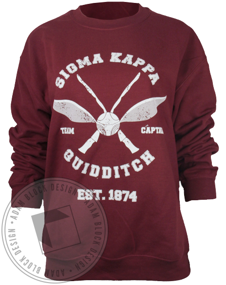Sigma Kappa Quidditch Sweatshirt-Adam Block Design