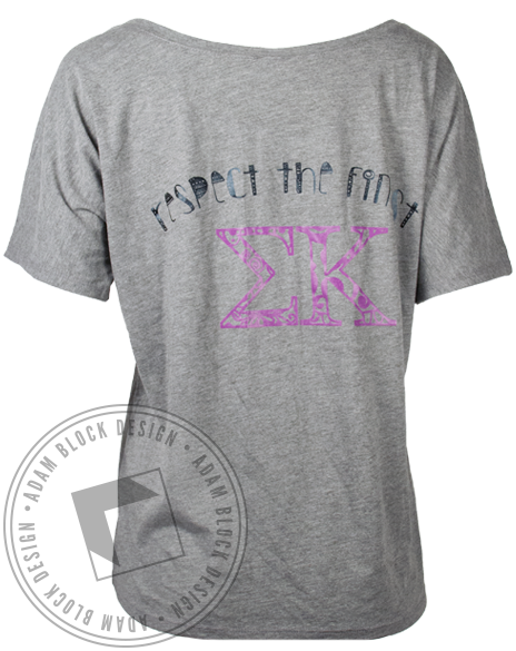 Sigma Kappa Respect Elephant Tshirt-Adam Block Design