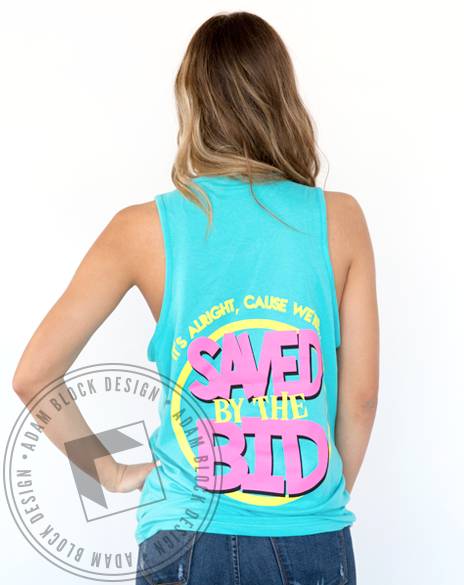 Sigma Kappa Saved By The Bid Tank-Adam Block Design